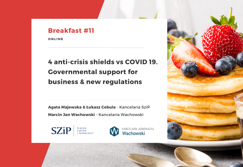 4th anti-crisis shields vs. COVID19. Governmental support for business & new regulations.